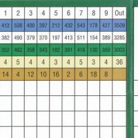 Golf Score Card
