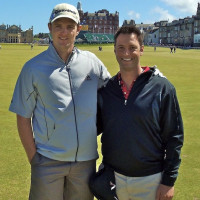 Dr. Gio Valiante with Justin Rose