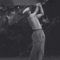 Ben Hogan Teeing Off In Tournment