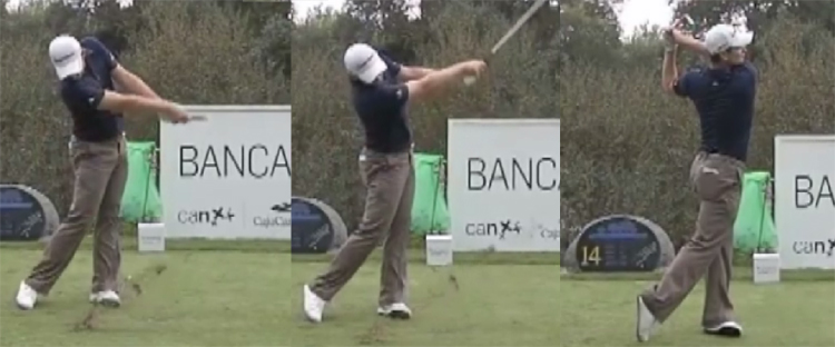 Justin Rose Follow Through Face On