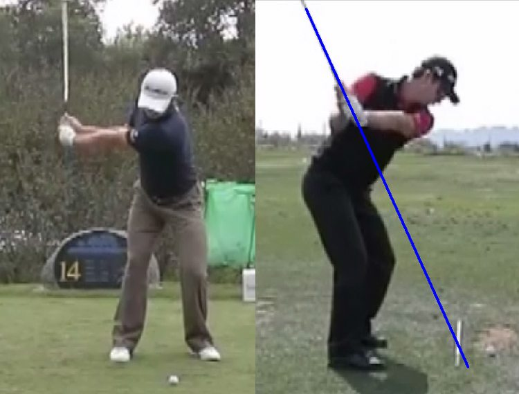Justin Rose Half Way Backswing