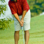 Golfer Putting With Distance Control